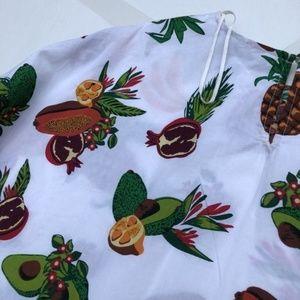 Zara Tops - Zara Tropical Fruit Print Crop Blouse Shirt Small